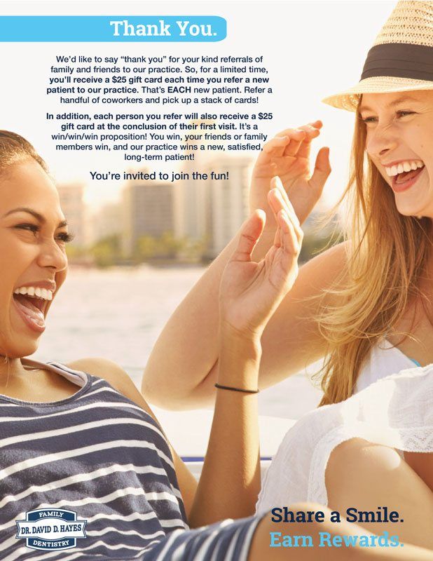 refer a friend Dr Hayes - Dentist - Westerville, Ohio - Columbus, Ohio